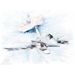 5 cartes porte avion Charles de Gaulle envoi franco