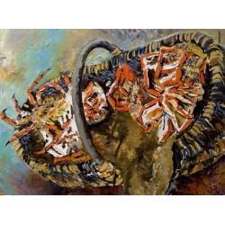 Panier de crabes de bas à Cancale
